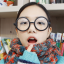 แว่นตาแฟชั่นเกาหลี วงกลมสีดำด้าน (พร้อมเลนส์) thumbnail 1