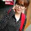 แว่นตาแฟชั่นเกาหลี สีดำมัน (พร้อมเลนส์) thumbnail 1