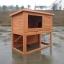 บ้านสัตว์เลี้ยง บ้านหมา บ้านแมว กระต่ายหนูไก่ นก อากาศถ่ายเทได้สะดวก 2 ชั้น ด้านบนมี 2 ห้อง สีไม้ธรรมชาติ thumbnail 1