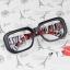 แว่นตาแฟชั่นเกาหลี กรอบดำลายเสือแดงขาว (ไม่มีเลนส์) thumbnail 1