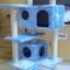 MU0060 คอนโดแมวห้าชั้น ต้นไม้แมว มีบ้านอุโมงค์สองชั้น ของเล่นแขวน สูง 150 cm thumbnail 2