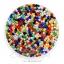 ลูกปัดเม็ดทราย 12/0 โทนด้าน คละสี (100 กรัม) thumbnail 1