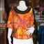 เสื้อผ้าฝ้ายบาติกแต่งปักไหม ไซส์ L thumbnail 1