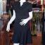 เดรสผ้าฝ้ายสีดำ คอจีน ไซส์ M thumbnail 3