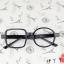 แว่นตาแฟชั่นเกาหลี กรอบสี่เหลี่ยมวงกลมสีดำมัน (ไม่มีเลนส์) thumbnail 2