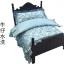 เตียงไม้สำหรับสัตว์เลี้ยงสไตล์วินเทจ พร้อมชุดเครื่องนอน ขนาดเล็กและขนาดกลาง thumbnail 6