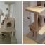 MU0031 คอนโดแมวสี่ชั้น ต้นไม้แมว cat tree มีบ้านอุโมงค์ ของเล่นแขวน สูง 150 cm thumbnail 3