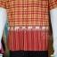 เสื้อเชิ้ตผ้าฝ้ายทอลายช้าง ไม่อัดผ้ากาว สีแดง-เหลือง ไซส์ L thumbnail 2