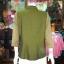 เสื้อคลุมผ้าฝ้ายสุโขทัย แต่งผ้าทอลายดอกหวาย ไซส์ M thumbnail 3
