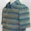 เสื้อสูทผ้าฝ้ายลายมัดหมี่สุโขทัย สีฟ้าน้ำทะเล ไซส์ 2XL thumbnail 4