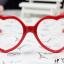 แว่นตาแฟชั่นเกาหลี กรอบหัวใจสีแดง (ไม่มีเลนส์) thumbnail 1