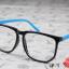 แว่นตาแฟชั่นเกาหลี กรอบสี่เหลี่ยมดำฟ้า (พร้อมเลนส์) thumbnail 2