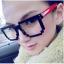 แว่นตาแฟชั่นเกาหลี สีแดงดำ (ไม่มีเลนส์) thumbnail 1