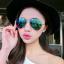 แว่นตากันแดดแฟชั่นเกาหลี กรอบโลหะสีทองเลนส์ปรอทสีน้ำเงินเขียว thumbnail 1