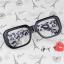 แว่นตาแฟชั่นเกาหลี กรอบดำเสือดาวเทา (ไม่มีเลนส์) thumbnail 1