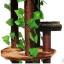 MU0117 คอนโดแมวขนาดใหญ่หกชั้น ต้นไม้แมว กระบะนอน ของเล่นแขวน มีเถาวัลย์ใบไม้พันรอบต้นไม้ เหมือนปีนบนต้นไม้ในป่า สูง 190 cm thumbnail 4