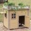 บ้านหมา บ้านแมว ทำจากไม้สนสามใบ ระเบียงกลางแจ้งพร้อมสวนดอกไม้ รูปแบบสวยงาม มีหลายขนาดให้เลือก thumbnail 1