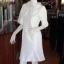 เดรสผ้าไหมแพรทองสีขาว ปกผ้าแก้ว ไซส์ XL thumbnail 2