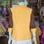 เสื้อคลุมผ้าฝ้ายสุโขทัย แต่งผ้าทอลายมัดหมี่ ไซส์ XL thumbnail 3