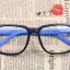 แว่นตาแฟชั่นเกาหลี กรอบดำฟ้า (ไม่มีเลนส์) (ของจริงสีออกฟ้าน้ำทะเล) thumbnail 1