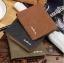 กระเป๋าสตางค์ผู้ชาย SH002 [สีเขียวขี้ม้า มีซิป] thumbnail 3