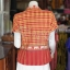 เสื้อผ้าทอลายช้างปกเชิ้ต สีแดงเหลือง ไซส์ 2XL thumbnail 3