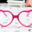 แว่นตาแฟชั่นเกาหลี กรอบหัวใจสีชมพูเข้ม (ไม่มีเลนส์) thumbnail 1