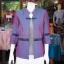 เสื้อคลุมผ้าฝ้ายสุโขทัย แต่งผ้าทอลายมุกสายรุ้ง ไซส์ 2XL thumbnail 1
