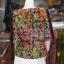 เสื้อผ้าฝ้ายบาติกแต่งปักไหม ไซส์ L thumbnail 3