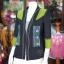 เสื้อคลุมผ้าฝ้ายสุโขทัยสีดำแต่งผ้าปักมือ ไซส์ M thumbnail 2