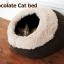 MU0019 ที่นอนแมวอบอุ่น หนานุ่ม รูปทรงเหมือนโพลงไม้ Chocolate Cat bed thumbnail 1