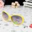แว่นตากันแดดแฟชั่นเกาหลี กรอบเหลืองโบว์ขาว thumbnail 1