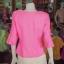 เสื้อผ้าฝ้ายสุโขทัย ปักมุกระย้า ไซส์ 3XL thumbnail 3