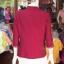 เสื้อคลุมผ้าฝ้ายสุโขทัย แต่งผ้าทอลายน้ำไหล ไซส์ XL thumbnail 3