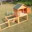 บ้านสัตว์เลี้ยง บ้านหมา บ้านแมว กระต่ายหนูไก่ นก อากาศถ่ายเทได้สะดวก 2 ชั้น ขนาดกลาง สีไม้ธรรมชาติ thumbnail 1