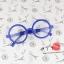 แว่นตาแฟชั่นเกาหลี วงกลมสีน้ำเงิน (พร้อมเลนส์) thumbnail 1