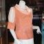 เสื้อผ้าฝ้ายสุโขทัย ปกและแขนผ้าแก้ว ไซส์ 3XL thumbnail 2