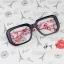 แว่นตาแฟชั่นเกาหลี กรอบดำดอกไม้แดง (ไม่มีเลนส์) thumbnail 1