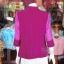 เสื้อคลุมผ้าฝ้ายสุโขทัย แต่งผ้าทอลายมัดหมี่ ไซส์ M thumbnail 4