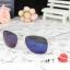 แว่นตากันแดดแฟชั่นเกาหลี กรอบขาวใสเลนส์ปรอทสีฟ้า thumbnail 1