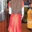 เดรสผ้าฝ้ายสุโขทัยแต่งผ้ามุกสายรุ้ง ไซส์ M thumbnail 4