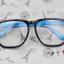 แว่นตาแฟชั่นเกาหลี กรอบสี่เหลี่ยมดำฟ้า (พร้อมเลนส์) thumbnail 1