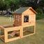 บ้านสัตว์เลี้ยง บ้านหมา บ้านแมว กระต่ายหนูไก่ นก อากาศถ่ายเทได้สะดวก 2 ชั้น ขนาดกลาง สีไม้ธรรมชาติ thumbnail 6