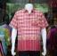 เสื้อเชิ้ตผ้าฝ้ายทอลายช้าง ไม่อัดผ้ากาว สีแดง-เหลืองอ่อน ไซส์ XL thumbnail 1
