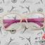 แว่นตาแฟชั่นเกาหลี กรอบเบจขาชมพู (พร้อมเลนส์) thumbnail 1