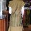 เดรสผ้าฝ้ายสุโขทัยแต่งผ้ามุกสายรุ้ง ไซส์ XL thumbnail 3