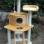 MU0083 คอนโดแมวสี่ชั้น ขนาดกระทัดรัด ต้นไม้แมว มีบ้านอุโมงค์ บันได เชือกให้ปีนออกกำลังกาย สูง 130 cm thumbnail 3