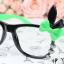 แว่นตาแฟชั่นเกาหลี กระต่ายดำเขียว (ไม่มีเลนส์) thumbnail 1