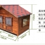 บ้านสุนัขแบบ 2 ห้องนอน ประตูและหน้าต่างมีกันสาดกระจกสำหรับกันลมฝน หลังคาเปิดได้ พื้นถอดได้ มีหลายขนาด thumbnail 21