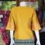เสื้อผ้าไหมแพรทองแต่งลูกไม้ สีเหลืองทอง ไซส์ 2XL thumbnail 3
